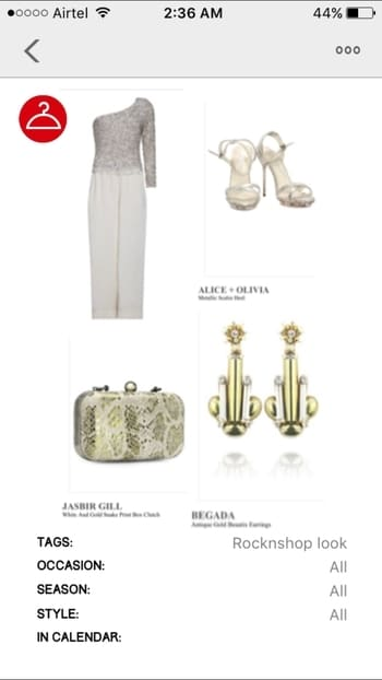This look with @rock_n_shop is so classy and chic! Perfect for any #partylook   #ootd details are as follows- 💛jumpsuit- Estera ivory off-shoulder jumpsuit with sequence detailing on the upper torso 😍 💛 Pumps- #alicexolivia metallic scales #heels  💛shoes- #jasbirgill white&gold snakeprint #boxclutch  💛 Earrings- #Begada  Antique gold beautix #earrings  I love the whole concept of white & gold 😍 This look has been created by me😊  For more #fashion updates & #fashionlook join me on- www.lifestylewithpriya.com  FB/Insta/Roposo #lifestylewithpriya   #rocknshop #rocknshoplookbook #roposolove #soroposo #sochic #sostylish #lookbook #stylicious #fashionblog #fashionblogger #delhifashionblogger #indianfashionblogger #styling #jumpsuit #whitejumpsuit #goldclutch #ropsofashion #roposofashionblogger