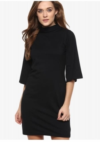 Flat 50% off  ₹925 only                                    Use Code --- SALEPICK                                   #summerdresses bellsleeves #summerdress #summerdressesforwomen #blackdress #lbdlook #lbddress  #littleblackdress