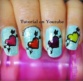Colorful Hearts Nails Tutorial is up on my YouTube channel, link is in the bio👆 Go watch it, show some love 💖 and dont forget to hit the Subscribe button 😌 . #designyournailsbyisha #ishanailart #heartsnailart #naildesignideas #nailartforbeginner #nailarttutorial #nailartvideo #valentinesdaynails #cutenails #nails #nailswag #nailartvidz #nailblogger #youtuber #beautifulnails #prettynaildesign #indiannailartist #colorfulheartsnails #roposonails #roposofashion #roposoblogger