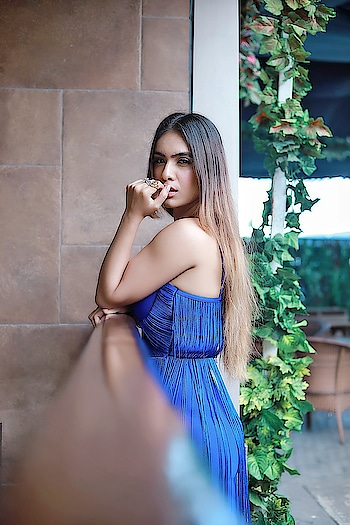 "After one too many Broken Hearts .. ""I LOVE YOU "" Sounds More of a THREAT 🙈🙈😂😂 : Beautiful blue outfit from @inclosetbypooja 🥰 must follow n chk our their amazing collection 🥰 : #relateable #lovequotes #singlelife  #happysingle #brokenheartquotes #justlikethat #blue #boldandbeautiful #bossbabe #beauty #blueoutfit #style #fashion #fashionblogger #fashionista #styleblogger #fashionstyle #sexy #lit #moodygrams #mood #goodvibesonly #nehamalik : : Photography @horilhumad  Mua @makeupbyvaish"
