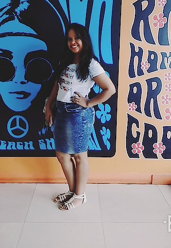 Just Made this denim skirt from my old denim jeans ! #denim #denim-love #denimized #denimlook #denimjeans #denimskirt #diy #diyblogger #diyvideos #blogging #bloggersofindia #blogginglife #bloggerforlife #bloglovin #bloggerpost #bloggersdiaries #bloggervibes #bloggerstories #fashion-blogger #blogginggirl #fashion #ropo-fashion #fashion-blogger #fashion-style #fashion-style #fashion-addict #bloggersdiaries #bloggervibes #bloggerstories #bloggingtips #blogginggirl #blog  #personal blog