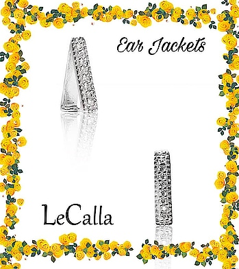 These ear jackets do not need a piercing. They are exclusively designed for all those of you who love to experiment with your looks.  #LeCalla #EarJackets #withoutpiercing #silver #zircone #earrings#silverjewelry #loveforsilver #musthave #earaccessories #withoutpiercings #happyshopping #kidsstylezz #kidsfashion #kidsaccessories #Stud #trendyjewelry #trendyjewellery #ootd #photooftheday #roposo #roposolove #roposotalks #instagood #instalove #instajewellery