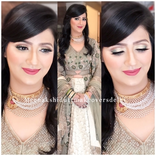 Engagement makeup #meenakshidutt #meenakshiduttmakeoversdelhi #makeupartistindia #makeupartistdelhi #hairandmakeupstudio #makeupacademymakeupschool #salonservices #makeupforalloccasions #bridalmakeupartist  #makeup