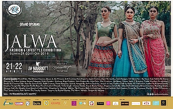 """Inviting all the shopaholics To shop from the exclusive Fashion showcase  """"JALWA""""  Today & tomorrow JW Marriott Hotel Chandigarh  Doors open🌸🌸🌸🌸  Be there!!!  #jalwa #fashion #lifestyle #exhibition #summer #trends #2018 #designer #collection #home #decor #apparels #jewelry #handloom #much #more #amilliondollaraffair #nehaamitsingla #amitsingla @amilliondollaraffair @nehaamitsinglaofficial @singla.amit08"""