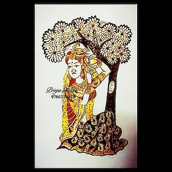 Radha - Goddess of Kindness, Love and Beauty❤ For bridal mehndi bookings and classes contact on 9766110053 #Royalfigure #Royalbride #Bridalmehendiartist #Radhakrishnamehendi #Weddings #Indianwedding