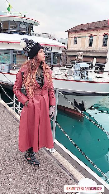 Time to board Switzerland Intercity Cruise 🚢   : #switzerland #interlaken #swiss #switzerlandwithnehamalik #europetripwithnehamalik #socold #freezing #snow #beautiful #beauty #interlakenswitzerland #wintervacation #winterfashion #trufflecollectionindia #boots #travelblogger #travelandleisure #nehamalik #model #actor #blogger #in