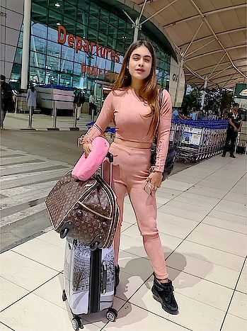 Off to Chandigarh 💕✈️💕✈️ for Interviews and Celebrity Club Appearance 🌸🌸 : #airport #airportoutfit #airportfashion #travelling #traveltime #chandigargh #chandigarhcalling #hereicome #superexcited #punjab #happytraveller #travel #travelblogger #travelphotography #airportstyle #airportlook #travelgirl #interviews #eventtime #appearance  #punjabicelebrity #punjabiactress #nehamalik #model #actor #blogger #instagram #instatravel #instafollow
