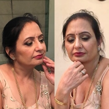 Makeup by me on my mother#momemntofhomour#showlove❤️