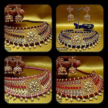 # #💎 Amrapali Collection # #💎 presents collection of designer # # Rajwadi #Kundan necklace # # for more details pls ping on 8689944486 # #