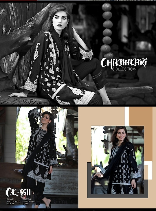 Exclusive and  very classic collection💃  👉LSM chikankari collection  👉ready to dispatch 👉fully embroidered chikankari work on lawn top 👉lawn bottom 👉pure chiffon dupatta 💥price 3200rs plus shipping ☎️9831663759