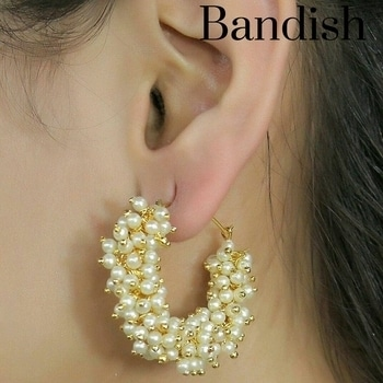 Bandish Pearl Nugget Hoop Earrings WhatsApp or Call on 9716070100 to get your pair.. Delivery across India..  #bandish #bandishcollections #jewellery #earrings #fashionjewellery #indianjewellery #imitationjewellery #onlinejewellery #partyjewellery #pearl #pearls #pearljewelry #indianjewelry #fashionjewelry #onlinejewelry #imitationjewelry #hoopie #hoopearrings #ethnicjewelry #weddingjewelry #bandishjewellery #fashionjewelry #fashionjewelleryindia #ethnicjewels #imitationjewellery #artificialjewellery
