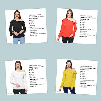 Check bio and dm me for shopping *Freedom SALE*  _Celebrate 20% OFF With These Products From 9th Aug-15th Aug._  _Look stylish in this trendy One shoulder tops that feature varied designed and style. Look flamboyantly voguish in this assorted tops._  Catalog Name: *One-Shouldered Trendy Tops*  Fabric: Polyester Crepe  Sleeves: Sleeves Are Included  Bust/Chest Size: S - 36 in, M - 38 in, L - 40 in, XL - 42 in, XXL - 44 in  Length: Up To 22 in To 24 in  Type: Stitched  Description: It Has 1 Piece Of Western Wear  Pattern: Solid  Dispatch: 2 – 3 Days  Designs: 5  Easy Returns Available in Case Of Any Issue #fashion  #clothes  #menswear  #womenswear  #shirts  #tshirts #jacket  #shoes  #sneakers #watches  #earphones  #powerbank  #shorts  #dresses  #pants #heels  #highheels #beautiful  #saree #indianculture  #indian #onlineshopping  #bestdeals  #bestproducts #jewellery  #earrings #maharashtra #delhi #gujarat
