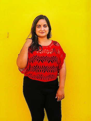 The girl in red in front of the yellow wall. (2/3) Working on some new things. Can't wait for exams to be over. What are your summer plans? . . . #summer #mdblogs #chandigarhblogger #fashionphotography #fashionblogger #indianfashionblogger #redandblack #blackandyellow #yellow #smile #candid #whatiwore #pu #chandigarh #love #blogger