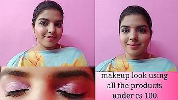 Video is up on my channel. 100 rs makeup challenge. Do watch it out my youtube channel link is in my bio. Soft pink look.  #makeuplook #softpinkmakeup #makeupchallenge #makeup #100rsmakeup #100rsmakeupchallenge #shriyashukla #affordablemakeup #affordablemakeuplook #nudelips #wearablemakeup #wearablemakeuplook #easymakeuplook #wingedeyeliner #matteeyeliner #sfr #Olivia #kissbeauty #nybae #glam21 #blueheaven #roposo #SoRoposo #roposoloves #roposotalks #lookgoodfeelgood