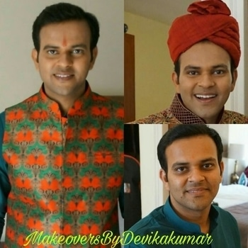 Makeup Of The Groom For Sagan And Wedding Ceremonies..😇🎉💄😎 I Have Given This Handsome A Minimal Makeup look Which looks Like Second Skin And Covers The Pigmented Area And Dark Circles Perfectly..😎😊 Makeup By @makeoversbydevikakumar  #lancomeindia#benefitcosmetics#maccosmeticsindia#makeupartistindia#makeupartistsworldwide#roposolove#malemakeup #minimalmakeuplook#makeoversbydevikakumar#follow4follow#like4follow#tagforlikes