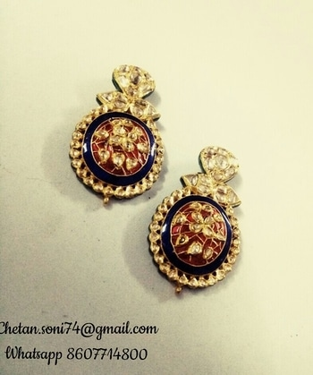 #bridal-jewellery #earring #pride #eligant #bridalstyle any queries contact Whatsapp 8607714800  #kundanearrings