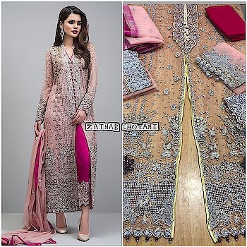 #luxuryfashion #wowshoppee #wedding-collections #awesome...😍😍lookk😘😘 #classyandfashionable #embroidered #chiffonsalwarkameez #chiffongown #wowstyle #elegantstyle #sassychic #  watsapp @7869677637 fr orders n queries