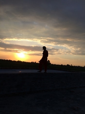 #sunset #nature_perfection #perfectcombination #hometown #russet #ruddiness #beautifulevening