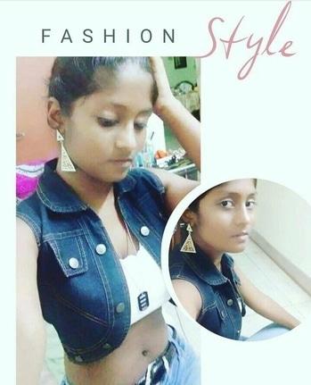 fashion overloaded #tubetop #jeans #denim-love #shorttop #jacketlove #shortjacket #denimwear #lockets #ropo-love #ropo-style #roposo-makeupandfashiondiaries #roposo #picofthedaystyle #roposostar #iamanindian #desiswaggirl