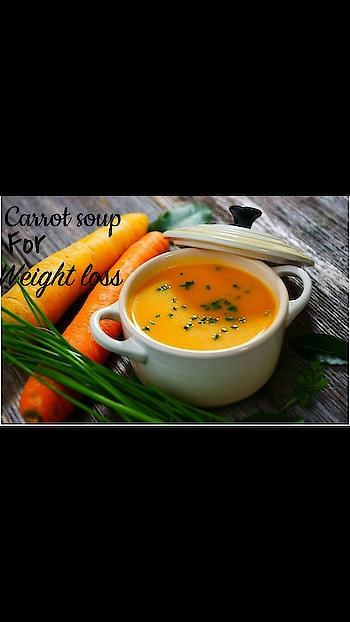 #Weight loss soup Carrot soup  Ingredients:  3 tablespoons of canola oil 2 teaspoons of curry powder 8 medium carrots, chopped 4 celery stalks 1 medium onion, chopped 1 cup of vegetable broth 1 tablespoon of lemon juice Salt to taste Preparation:  Take a large saucepan, add oil and curry powder to it. Stir for 2 minutes and add carrots, celery and onion. Cook for 10 minutes and stir in the broth. Reduce the heat and simmer until the vegetables turn soft. Remove from the heat and let it stand for 10 minutes. Lay a paper towel over the soup to blot the excess oil that has risen to the top. Transfer the soup into the blender and pour the puree in the pan. Simmer it on medium flame and serve hot. One of the best soups for weight loss!  #soup #soups #weightloss #carrotsoup #carrot #weights #foodblogger #followmeonroposo