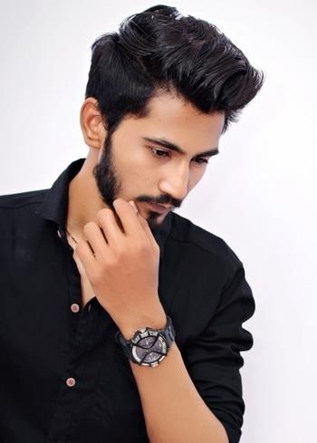 #goodmorning #guys #instagram #black #pose #manstyle #fastrack #good #time #happy #life #bearddarshan #darshanpanchal