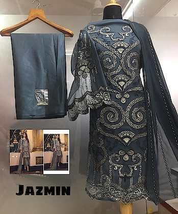 *JAZMIN NX*                *LUXURY*                 *COLLECTION*       👇🏻~_Fabric details_~ 👇🏻 *4* *HIT Dezines*  👗 Top : GEORGETTE   👖Bottom   : SANTOON  💐INNER- SANTOON   🔺Dupatta : NAZMEEN/ NET/TB SILK (Digital Prints)  🔻Price : 💸 1329/-+ship*      *KILRUBA* *Ready to Despatch*   Direct Message us or whatsapp on 9867764381   Follow us 👉🏻on FB:  *https://www.facebook.com/Stylista-Fashionss-2137660539847810/*  #stylistafashionss #style #fashion #trend #readysuit #dressmaterial #ethnic #western #fashionjewellery  #handbags #kurti #botttomwear #onestop #shopping #saree #readymadeblouse #lookstylish #bethefashion #shopstylistafashionss #onlineshopping #bestquality #bestprice #bestbuy #swag