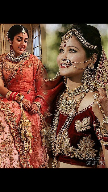 MUA@Neha's make-up artist which look is beautiful Nude makeup or BOLD RED Look?