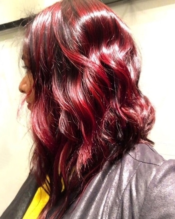 Red🔥 #newseason #newhaircolor #red #nofilter #lovingit #hairstyle #haircolor #sorosopo