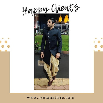 """""""Elegance is not standing out, but being remembered."""" – Giorgio Armani  Rent this stylish black color indo-western for your next event at www.rentanattire.com.  Call us on 7722009477 or visit our store located in Warje Pune.  #rentanattire #raahappyclient #happyclient #makeinindia #sustainablefashion #rentalfashion #groomstyle #designerwear #fashionstatement #weddingseason #indowesternlook #microweddings #fashiononrent #customfit #onlinestore #rentisthenewbuy #rentthelook #outfitoftheday"""
