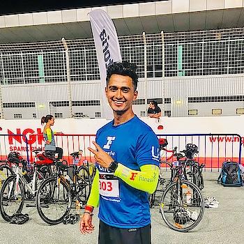 First Ever Duathalon 🏃🏻♂️🚴🏼♂️✌🏼 #dubaimotorcity #dubaisportscity #duathalon #athlete #compete #blue #jersey #adidas #fit #fitness #fitnessmodel #fitnessfirst #roposo #moment #mensfashion #run #cycling #marathon #applewatch #colorful #dusky #smile #dubai #uae #mumbai #indian #sajansinghrawat