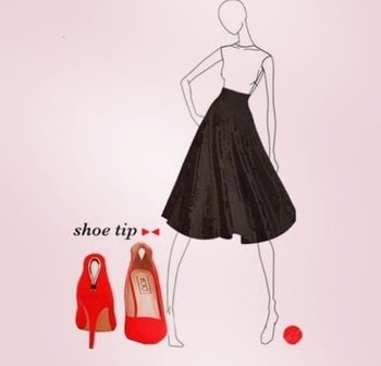 If it's mid waist or longer go for high heels and a high waist #tip #shoetip #dresses #black #heels #INTOTOs #fashionadvice #red #shoestyle #trends #trendy #dosandonts #shoeaddict #musthave #wardrobeessentials
