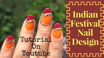 Indian Festival Nail Design 💅🏼❤️ Full Tutorial is up on my YouTube channel, link is in the bio👆 Go watch it, show some love 💖 and dont forget to hit the Subscribe button 😌 #designyournailsbyisha #ishanailart #nails #nail #nailart #notd #art #design #nailfashion #instanails #photography #nailblogger #bblogger #youtuber #indianfestivalnailart #karvachauthspecial #diwalispecial #weddingnails #nailartist #indianweddingnails #redgoldennails #roposonails #roposoblogger #roposofashion #soroposo #durgapoojanails #redorangenails IG:design_your_nails_by_isha ❤️