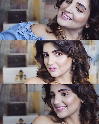 Stills from the shoot... Filmed for IG!!! Deets soon in coming posts!! . #shootscenes #indianinfluencer #indianblogger #delhigram #curlyhair #nudelip