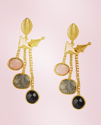 These 18k micro #gold-plated #earrings by label Kista feature #pink & #black onyx semi-precious stones: https://www.indiancultr.com/designers/kista-jewels?p=4 #love #beautiful #India #IncredibleIndia #wow #amazing #artisan #instagood #want #neednow #inspiration #Indian #modern #makeinindia #instalove #instalike #instadaily #photooftheday #webstagram #follow #repost #shop #online #designer #jewelry
