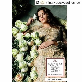 Super excited as we unveil our ever so stunning A/W'17 Wedding collection at @minenyoursweddingshow #savethedate 💛 . . #Repost @minenyoursweddingshow (@get_repost) ・・・ Get your hands on your favourite couture pieces from India's finest designers at @minenyoursweddingshow on 30th and 31st August. . . #weddings #weddingday #weddingshow #weddingday #mny #mnyws2017 mny #mnyws2017 #weddingshow #weddingday #weddingideas #weddingexhibition #weddingexpo #weddingexpo2017 #fashion #fashiondesigner #honeymoon #honeymoondestination #honeymoonshopping #weddings #weddingday #weddingexhibition #mny #mnyws2017 #chandeliers #flowers #weddingdecor #instagram #instalike #instafollow #picoftheday #followtofollow #picoftheday #look #amazing #instagood #followme