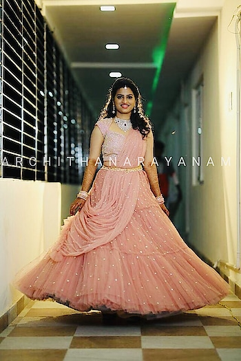 STUNNING LEHENGAS!! ~THALASSA ~ Come order your lehenga in your favorite colour for your d-day!! #archithanarayanamofficial #bridallehengas #customize #your #colour #bridalcouture #pretty #gorgeous #feellight #but #beautiful #weddings #sangeet #reception #studdedblouse #thalassa
