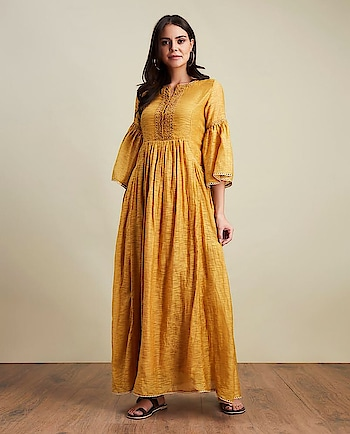 Special price till stocks last! This #yellow embroidered kurta #dress by Ritu Kumar is quintessential for your upcoming #parties: https://www.indiancultr.com/new-arrivals/stories-by-ritu-kumar?p=4&trk=hmpg-slider #luxury #makeinindia #artisans #fashion #style #fashionpost #India #incredibleindia #ritukumar #shoponline #new #love #beautiful #wow #amazing #label #designer