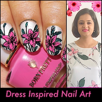 Hi everyone, Today I have Dress Inspired Pink Floral Nail Art for you. I did this for @nailswithigfriends  So I created this design inspired by my dress. I love the way it turned out on my nails😌  I hope you all like it too😍  I used: 🌺White Nail Polish from @revlon  🌺Pink Nail Polish from @bornprettystore  🌺Green Nail Polish from @opi_professionals 🌺Stamping Plate #BeautyBigBang16 & #BBBXL040 🌺Black Stamping Polishes from @bornprettystore  🌺Silicone Stamper from @beautybigbangs  🌺Top coat from @bornprettystore   🔅🔅🔅🔅🔅🔅🔅🔅🔅🔅🔅🔅🔅🔅🔅🔅 🎁Use ISH10 for 10% discount on https://www.beautybigbang.com/ 🔅🔅🔅🔅🔅🔅🔅🔅🔅🔅🔅🔅🔅🔅🔅🔅  🎥  Full Tutorial is up on my YouTube channel, link is in the bio👆 Go watch it, show some love ❤️ and don't forget to hit the Subscribe button 😌   #facebehindthenails #designyournailsbyisha #ishanailart #floralnails #dressinspirednails #nailartdesign #floralnails #nailart #naildesign #nails #nailartwow #nailfashion #nailpromote #nailmagazine #naildesigns4all #photooftheday #notd #roposolove #roposofashion #roposoblogger #roposonaila