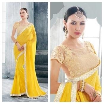 #saree #sareez #sareestyleforsummers #sareeblouse  #sareeonline #sareedesigns #sari #saripartywear #yellow #desilove #designerwear #designerscollection #sareesusa #sareefusion #style #stylestatement #stylishlook #stylesense #summer-style #new-style #fashiontrends #fashionbloggerdelhi #fashionindia #fashionforecast2017 #indian dress...
