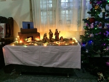 Wait to see more images 👉➡️ #crib #idols #decorations #celebration #christmastree #lights #kings #shepherd #wine #cake