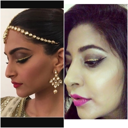 Sonam Kapoor's inspired makeup.