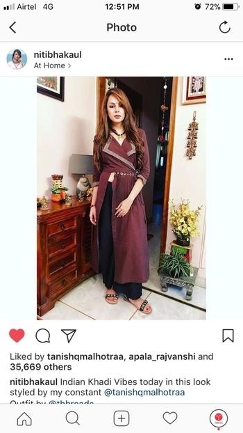 #nitibhakaul #khadi #outfit #thhreads #iwearhandloom  #celebrityfashion