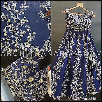 ~A blue eye candy~  An Off shoulder Navy blue embellished blouse and lehenga !!   #archithanarayanamofficial #bridalcouture #sweet16 #lehengas  #designer #life #detailedtherapy #couture #bridal #wedding #style #fashion #indianbride #indianwedding #navyblue #ootdfashion #fashion #life