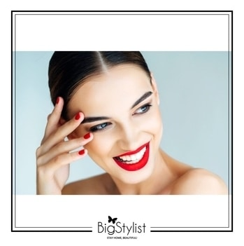 Hop on board the latest beauty trend - matching your lipstick to your nail polish.  Like this? Say a Hi on WhatsApp at 9920465699 for more such fantastic stuff! We are crushing over the classic red ❤ #red #rednails #redlips #beauty #makeup #trends #chic #love #women #beautytrends #classic #weekend #tgif #stayhomebeautiful #BigStylist