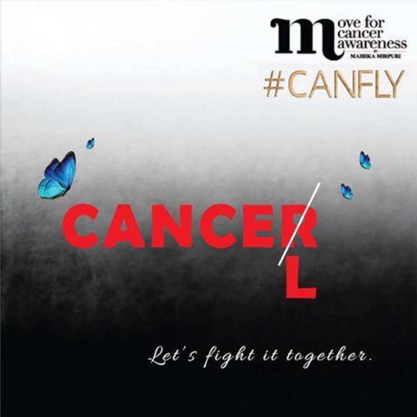Cancer is a deadly disease. Let's fight it together. #CANFLY