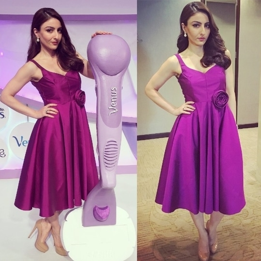 A vision in violet! #purpledress #cocktaildress #eventstyling #feelthebreeze #glamour #styleoftheday