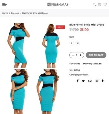 Blue Dress By FemNmas Made Of Imported Polysters Shop Now - https://goo.gl/9fnWvA #dressindia #pencildress #femnmasdress #femnmasdresses #onlinefashiondresses #fashionwomenwear #onlinedeaignerwear