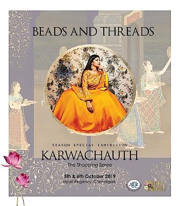 Karwachauth-The shopping spree at HYATT,Chandigarh on 5th & 6th october  Feel the love in modern & delicately feminine couture by BEADS & THREADS. She has elevated the style quotient of bespoke indian wear.  #amilliondollaraffair #exhibitions #chandigarh #punjab #haryana #wedding #wedding exhibition #weddingshow #designers #bollywood #bollywoodstyles #fashionshow #jewellery #dresses #ethnicwear #westernwear #footwear #punjabijutti #groomwardrobe #bride #groom #bridalwear #bridemaids #groomsmen #childrenwear @hyattregencychandigarh @nehaamitsinglaofficial @amilliondollaraffairevents