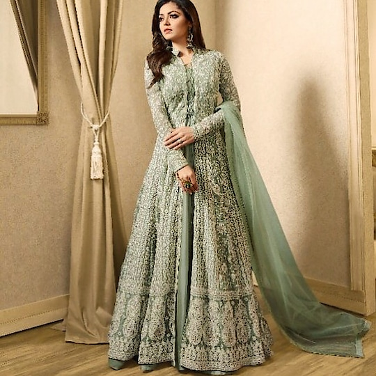 Drashti Dhami Pista Green Anarkali Suit  Product code - FCSS1455 Available at www.fashionclozet.com  Watsapp - +91 9930777376 Email -  info@fashionclozet.com Or DM for enquiries  #gotapatti #mirrorwork #weddingcollection #couture #bridalcouture #bridalfashion #stylishbride #weddingshopping #fashionable #festivecollection #stylishwear #ethniccollection #bridaldress #mumbaifashion #chandigarhfashion #partywear #teej #dubai #uae #qatarall #suit #georgette #embroidered #patchwork #occasion #worldwide #drashtidhami #shipping #uk #fiji