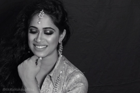 Beauty in monochrome- Makeup by Nikita Makeup Bliss ❤️ Picture credit: @Frankmodephotography #Makeupby #NikitaMakeupBliss #monochrom #beautifulclient duskybeauty #indianbeauty #makeuplook #client #makeupartist #makeupartistindia #makeupartistdelhi #bridal #bridalmakeup #bridalmakeupartist #engagementmakeup #lovemyjob  #makeup